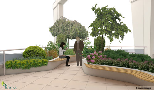 визуализация озеленяване